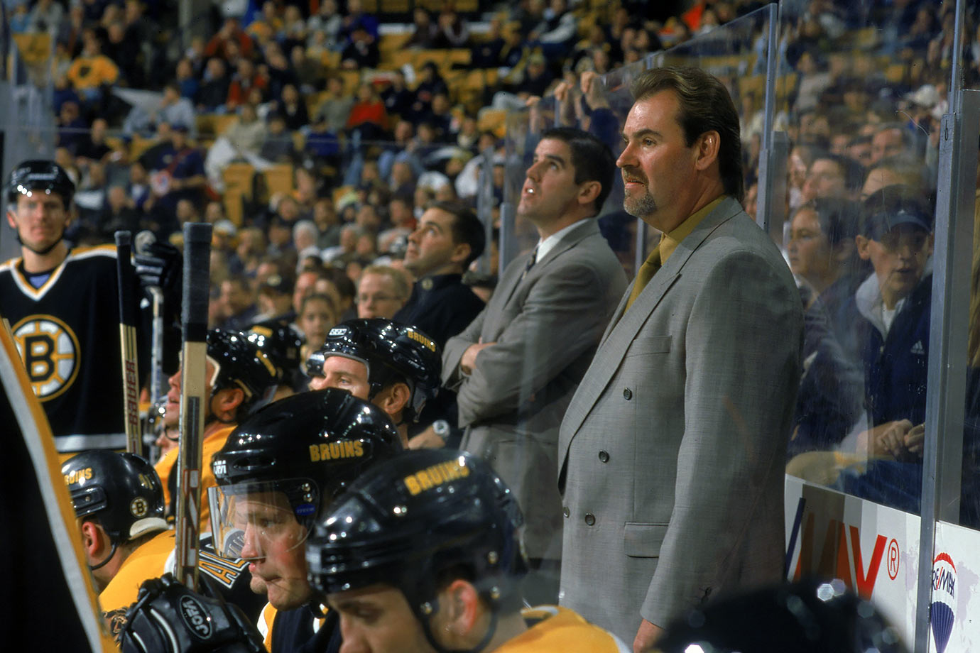 "With the B's answering a playoff DNQ with a 3-4-1 start and on a four-game slide, GM Harry Sinden decided to turn up the heat by firing their hotheaded fourth-year coach, who'd won the Jack Adams Award with Boston two years earlier. ""The team's play over their last several games has convinced me we need to go in a different direction and that a different coach was needed for that to be accomplished,"" Sinden said. Different? Burns's replacement, Mike Keenan, was notorious for his own five-alarm temperament. Iron Mike presided over another DNQ and was gone after the season."