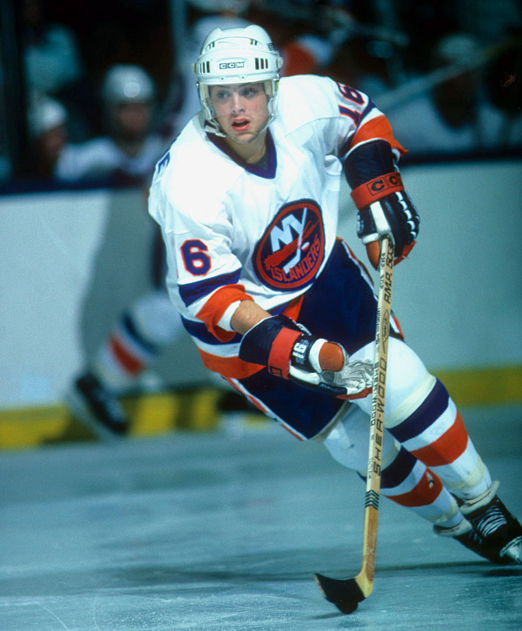 Born Patrick Michael LaFontaine, the five-time NHL All-Star played for three teams over 15 seasons (the New York Islanders, Buffalo Sabres and New York Rangers), never leaving the state of New York. LaFontaine scored 566 points in 530 career games, including two 50-goal seasons and 148 points in 1992-93 with Buffalo.