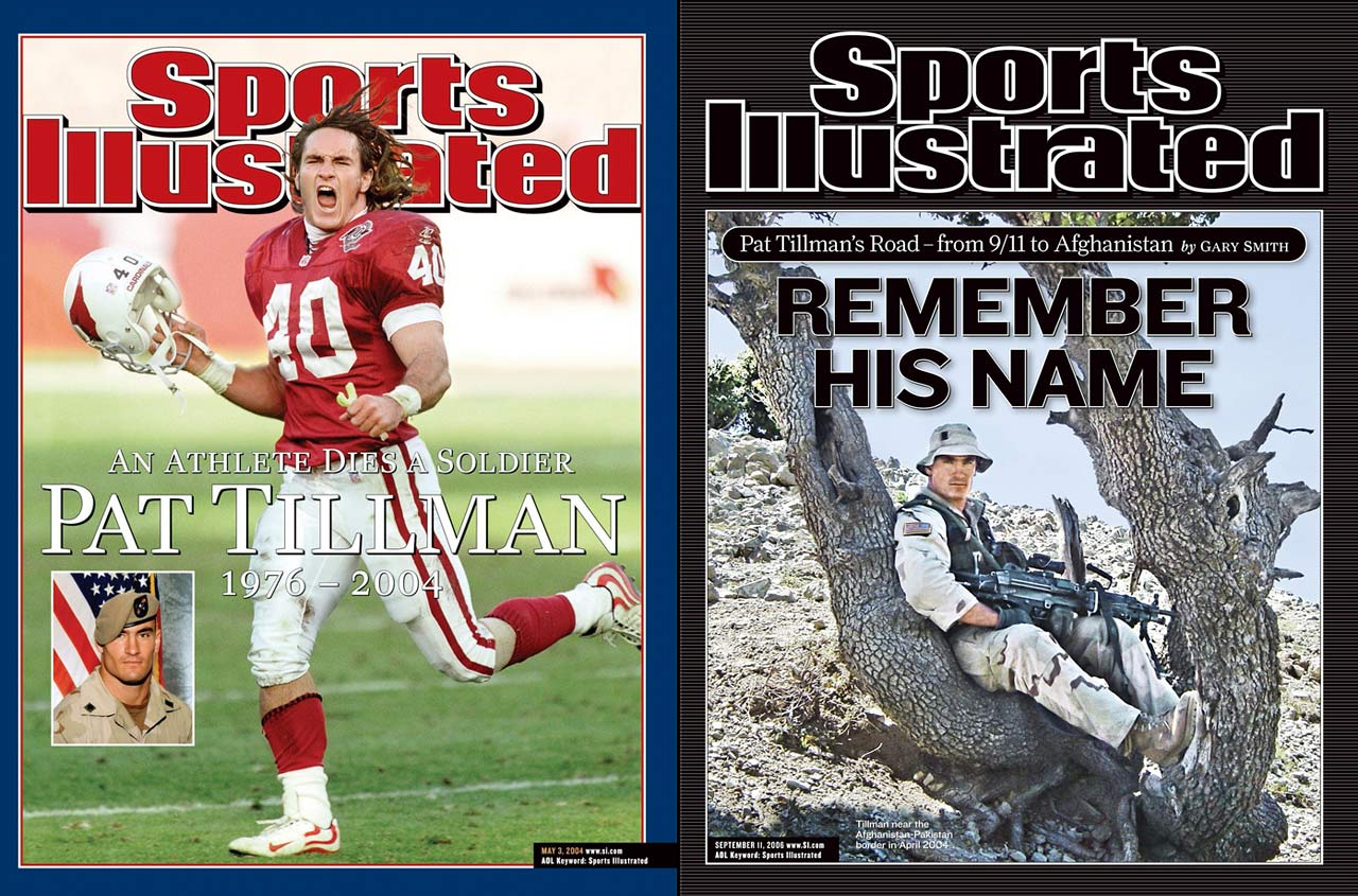 Tillman stands as the most famous example of a 21st century athlete giving up his playing career for military service. The former Cardinals safety enlisted in the Army Rangers with his brother Kevin in 2002. On Tillman's second tour of duty, in Afghanistan, he was killed in a friendly fire incident. He was posthumously awarded the Silver Star and Purple Heart, among several other military honors.