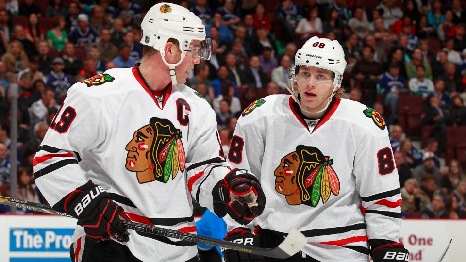 Jonathan Toews and Patrick Kane accounted for 137 points in the 2013-'14 regular season.