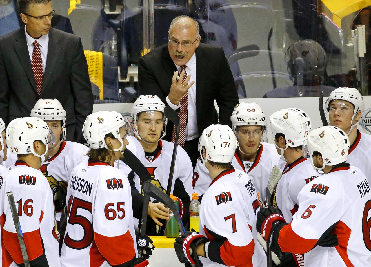 Paul MacLean was fired as coach of the Ottawa Senators on Dec. 8, less than 18 months since he was the NHL's coach of the year. The coaching dismissal was the first in the 2014-15 NHL season and came with the team off to an 11-11-5 start. Team executives had problems with MacLean dating to last season when the Sens missed the playoffs. He was criticized for his constant line juggling and for his prickly attitude, which rubbed some star players the wrong way.