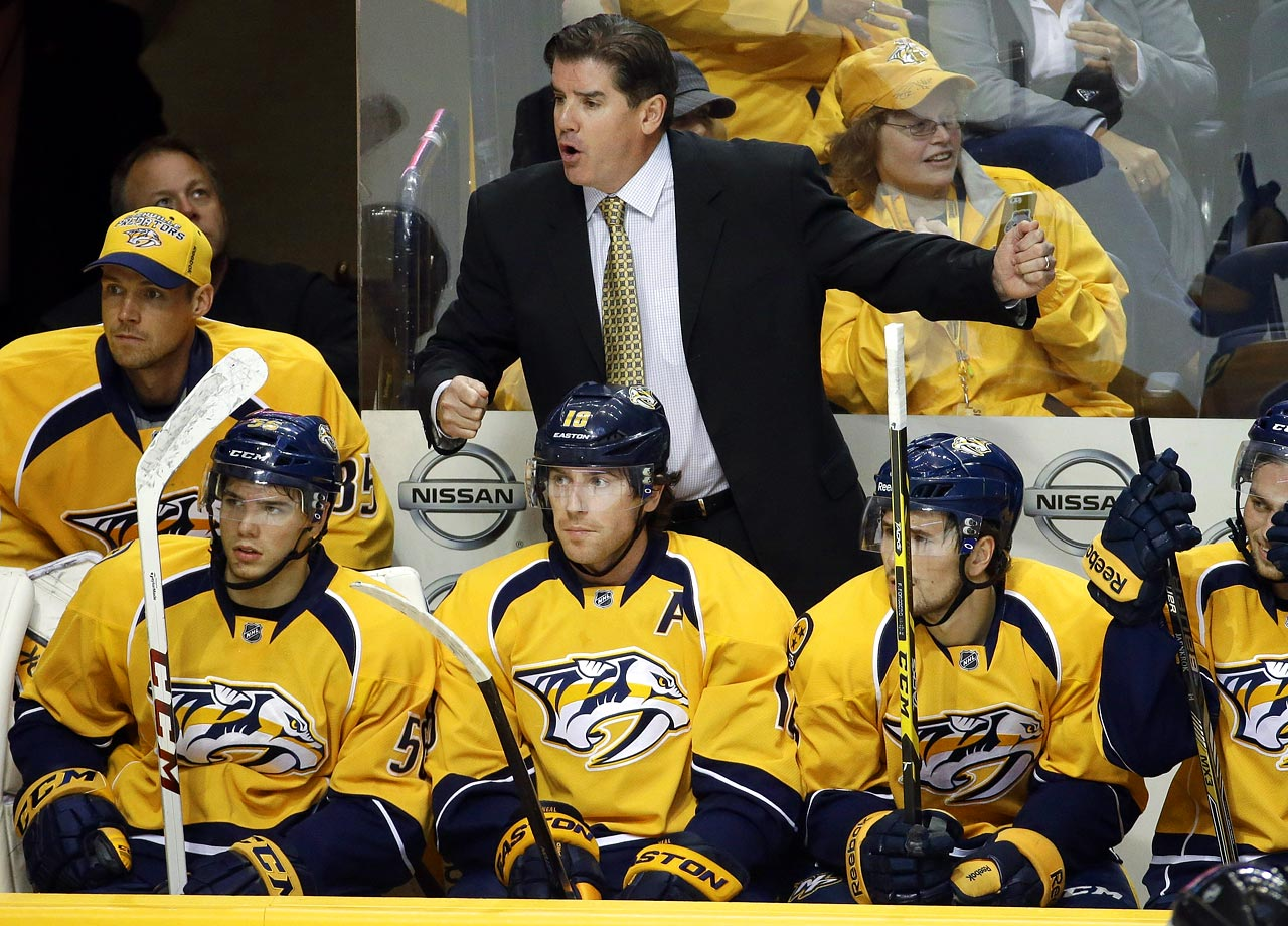 Only the second coach in Predators history, Laviolette succeeds Barry Trotz and will try to turn the traditionally low-scoring, defense-minded Predators into an up-tempo team with a formidable attack. A Stanley Cup winner with Carolina (2006), Nashville's new bench boss has some new guns (James Neal, Mike Ribeiro) in the team's arsenal but may need time to get the roster's assorted parts to mesh with his philosophy. The Predators slim postseason hopes in the powerhouse Central rest on Laviolette succeeding as he did with the upstart Islanders in the early 2000s.