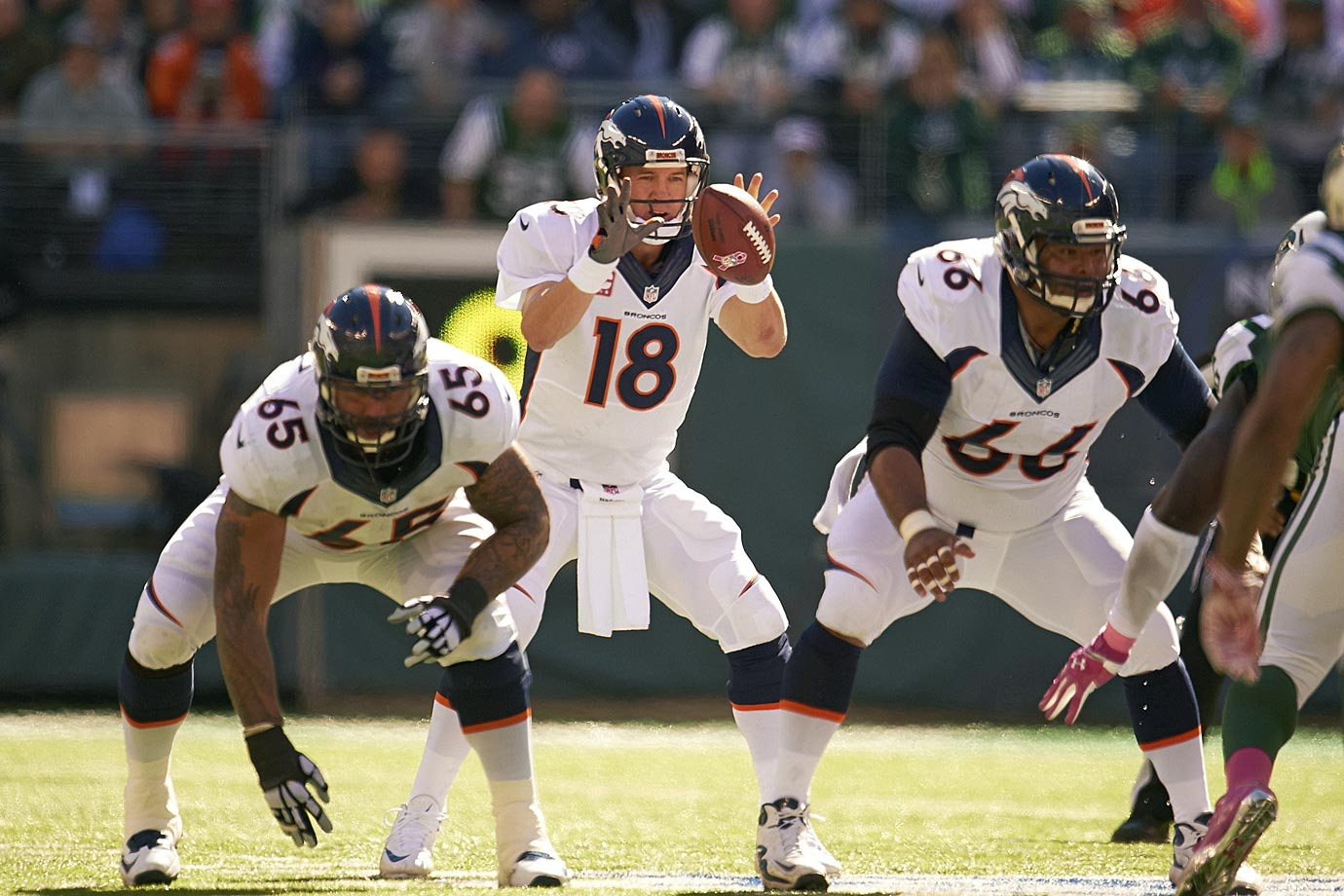 Did Manning's late-season regression in 2014 have more to do with his quadriceps injuries or the inevitable passing of time? If the 39-year-old quarterback makes a full recovery from his injuries and is able to plant and throw as he did in previous years, Denver might be able to get another great season out of him, albeit with fewer attempts and different concepts. But there is concern about Manning's future, and there should be.
