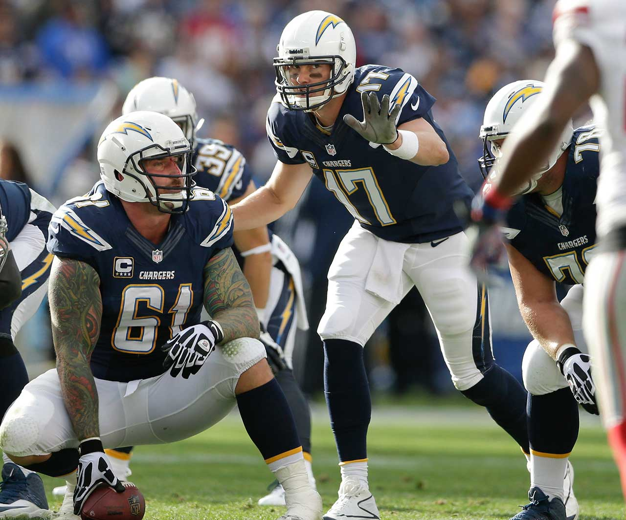 Philip Rivers has played on his birthday once in his 12 seasons in the NFL and the Chargers made sure his 32nd was a happy one as San Diego rolled over Eli Manning and the New York Giants 37-14. Rivers completed 21 of 28 passes for 249 yards and three touchdowns.