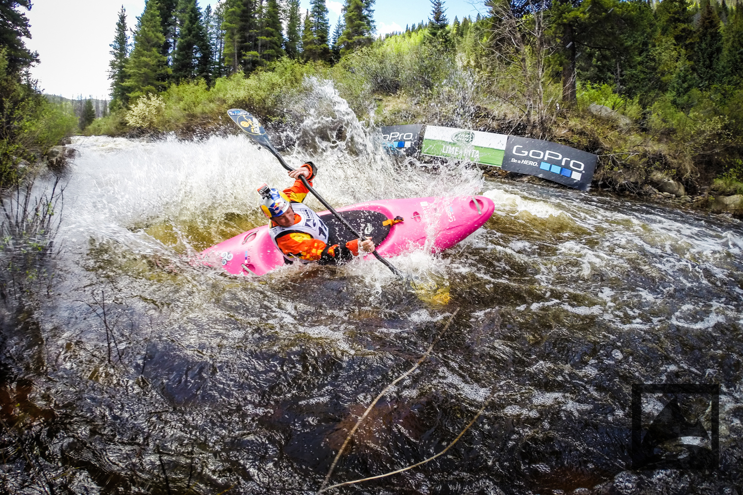 With warm temperatures in Vail this weekend, the water raged down Class V Homestake Creek on Friday, where more than 50 kayakers raced at the Bud Light Lime-A-Rita Steep Creek Championships on the first day of the GoPro Mountain Games. Martina Wegman won the women's race for the third straight year, while Issac Levinson beat world champion Dane Jackson to win the men's race.