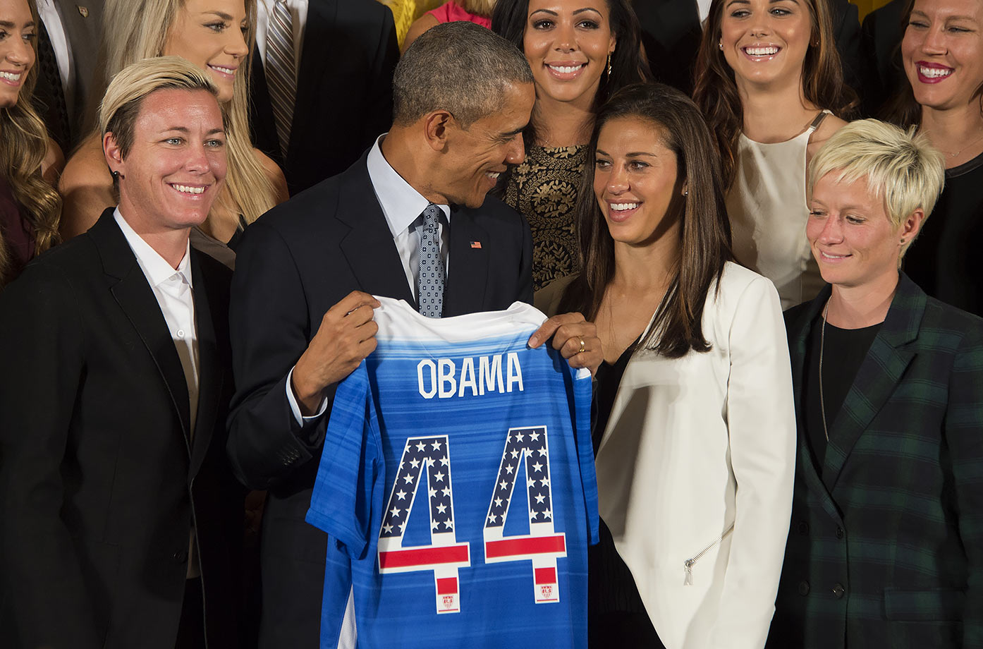 President Obama honors USWNT at White House for winning World Cup