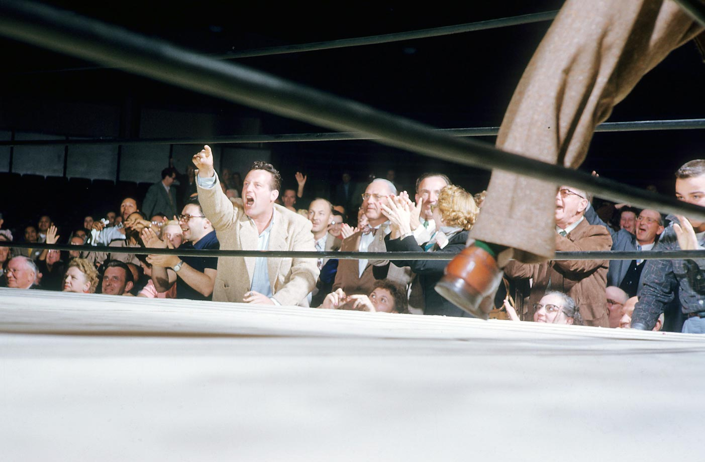 View of fans ringside.