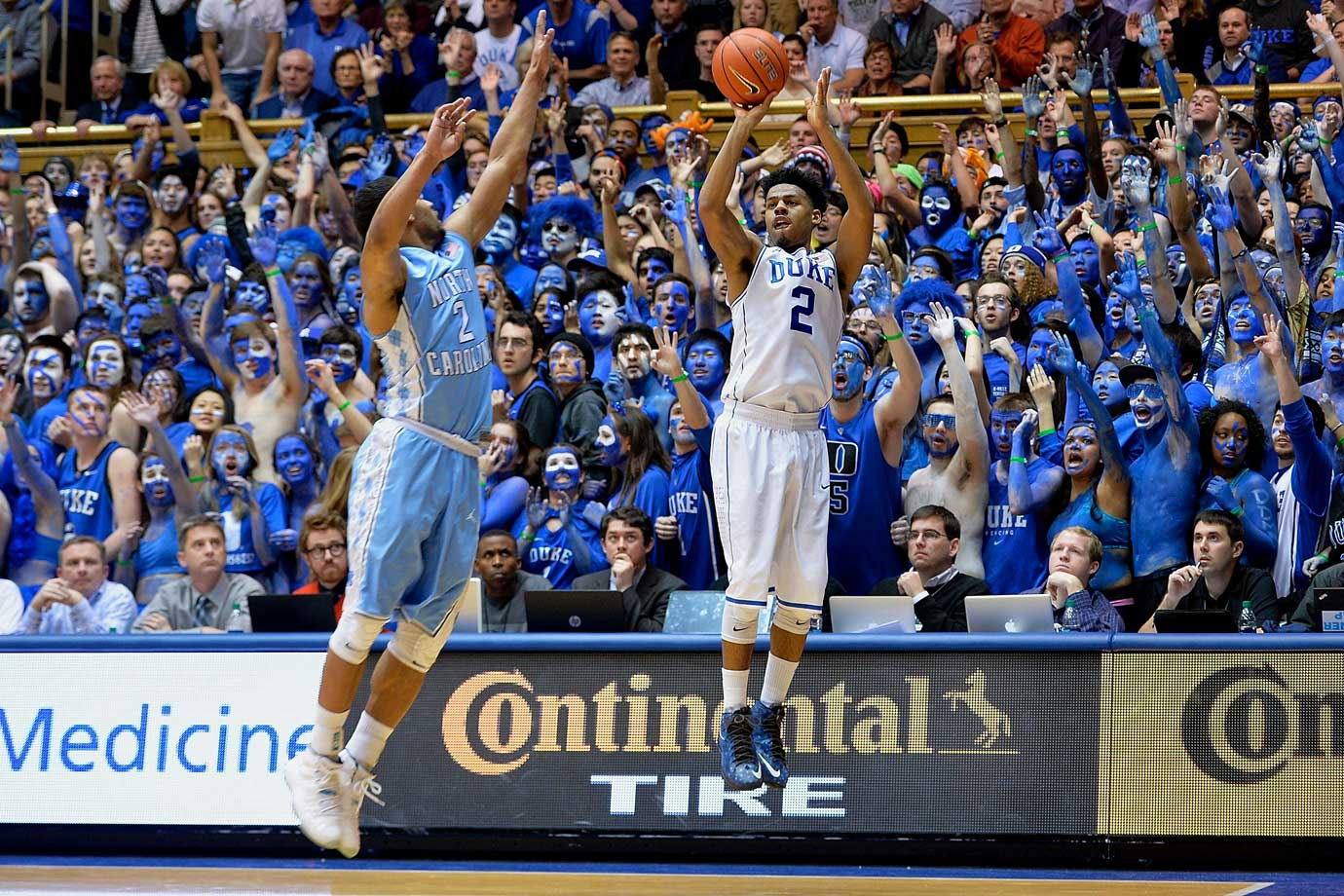 Cook is not the biggest name on the Duke roster, but he's an invaluable part of the team's success. Cook is relied on heavily, playing about 36 minutes a game for the Blue Devils. His long-range shooting—just over 40 percent from three—gives the rest of the Duke offense room to operate. His leadership at the guard position offsets the inexperience of freshmen Okafor and Tyus Jones.