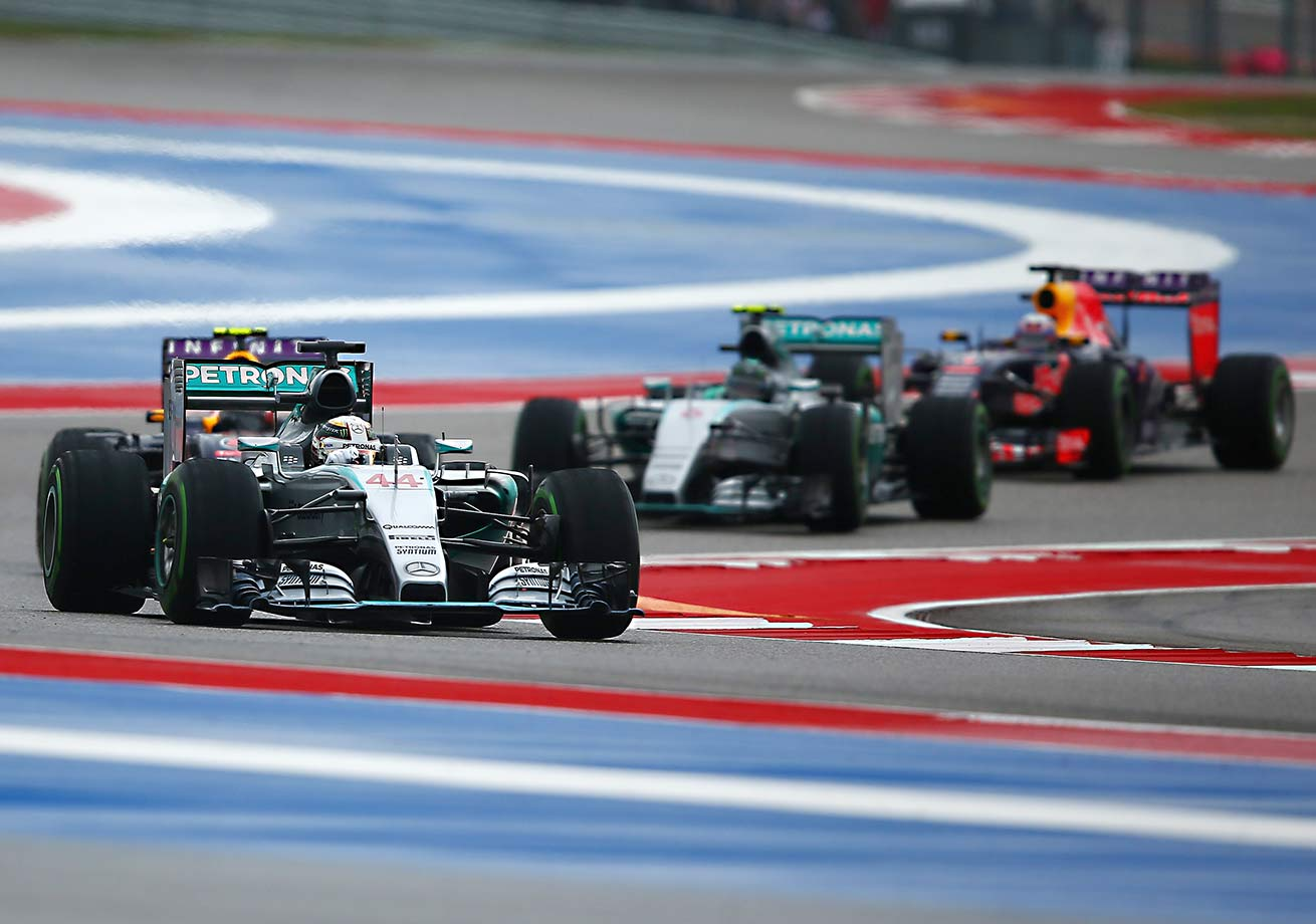Just when it seemed wins in nine of the season's first 15 races had set Mercedes' top gun on an easy path to the F1 crown, he found himself facing a gale force headwind entering the U.S. GP in Austin, Texas. Hard, steady rain threw off his practices and qualifying opportunities. Then Nico Rosberg, his teammate and best frenemy, edged him for the pole. But the young Englishman got his revenge, passing Rosberg one turn into the first lap and again later in the race (after a mysterious wind knocked Rosberg off course) on the way to claiming his third series crown. Only four drivers—Michael Schumacher (seven), Juan Manuel Fangio (five), Alan Prost and Sebastian Vettel (four)—have more.