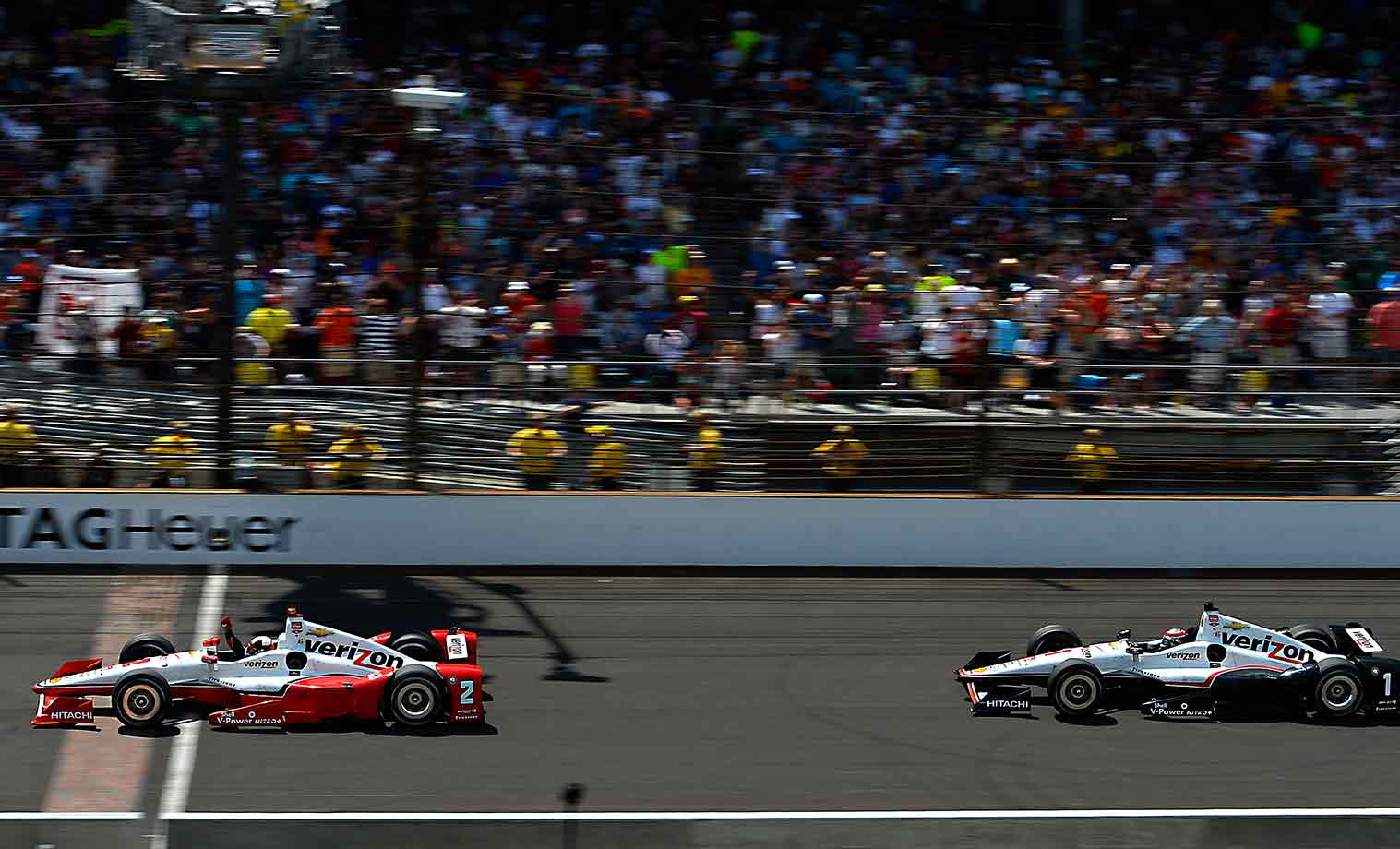 After qualifying for the 99th running of the Indy 500 in 15th place and dropping to 30th after sustaining contact damage early, the Team Penske ace rushed back to the front, seized the lead with four laps to go on the way to winning his second Borg Warner trophy. The victory, which came 15 years after Montoya, 39, conquered the Brickyard on his first try, provided the exclamation point on the Colombian's return to open-wheel racing (which he deserted for nine years to go walkabout in NASCAR) and furnished him with a seemingly insurmountable lead in the IndyCar points standing.