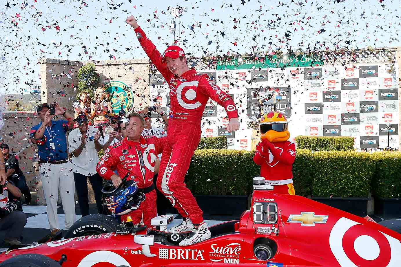 Yet again Ganassi's ranking Kiwi proved that slow and steady is the best way to win. All season he stalked points leader Juan Pablo Montoya. At the IndyCar finale at Sonoma he made his move, rallying from ninth to the checkered flag. In the process he netted a double points bonus (which put him even with Montoya atop the leaderboard) and a third win (enough for a tiebreaker). The come-from-behind win gave Dixon with his fourth series crown. It also was a cathartic ending for IndyCar after the jolting on-track death of veteran driver Justin Wilson just a week earlier.
