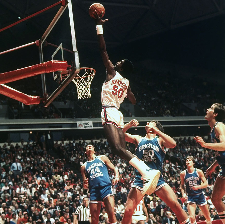 A huge star at Virginia, Ralph Sampson made five SI covers during his college career. The three-time Naismith and Wooden award-winner led the Cavaliers to an NIT title his freshman year and a Final Four the year after that, averaging a double-double for all four college seasons. His 84 career double-doubles are the second most all-time.