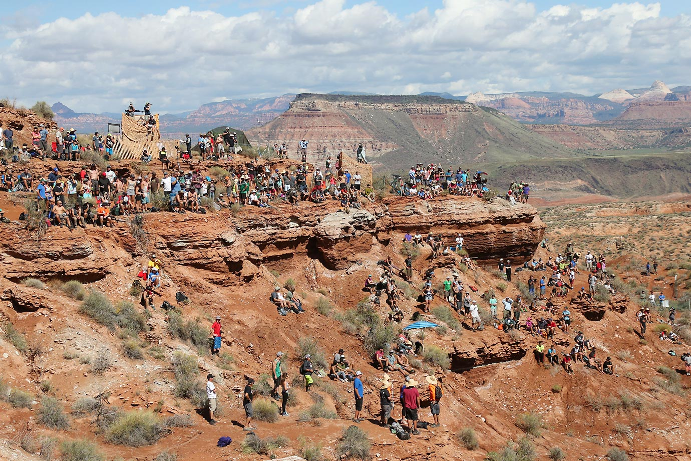 View of the crowd at the Red Bull Rampage.