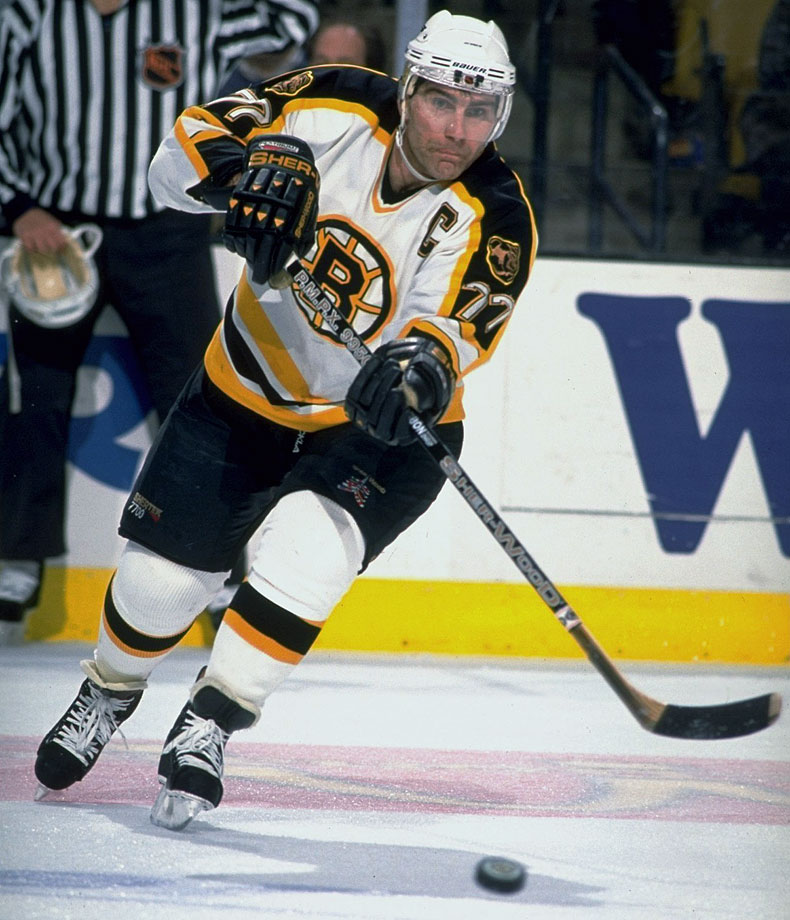 Few have played with the quiet leadership and integrity of Bourque, the all-time leader among defensemen in goals (410), assists (1,169) and points (1,579). After two trips to the Cup finals, 13 First-Team All-Star selections, and six Second-Team nods with Boston, he welcomed a trade to Colorado as a final chance to play for the title. Perhaps no player's skate with the Stanley Cup met with as much joy as Bourque's celebrating during his final game in 2001.