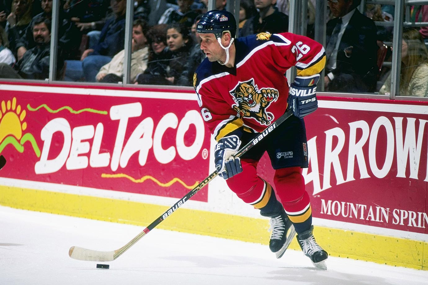 Poor skating didn't prevent Sheppard from scoring 52 goals for Detroit in 1993-94, and his scrappy skill sparked Florida's surprising run to the '96 Cup finals after he was acquired from San Jose on March 16. Sheppard scored eight goals and 16 points in Florida's 21 postseason games.