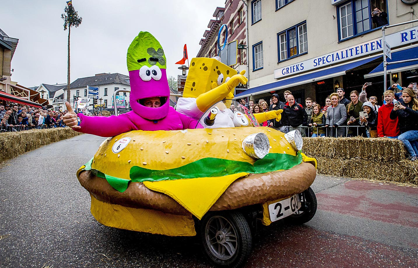 The Red Bull Soapbox Race in Valkenburg, Netherlands.