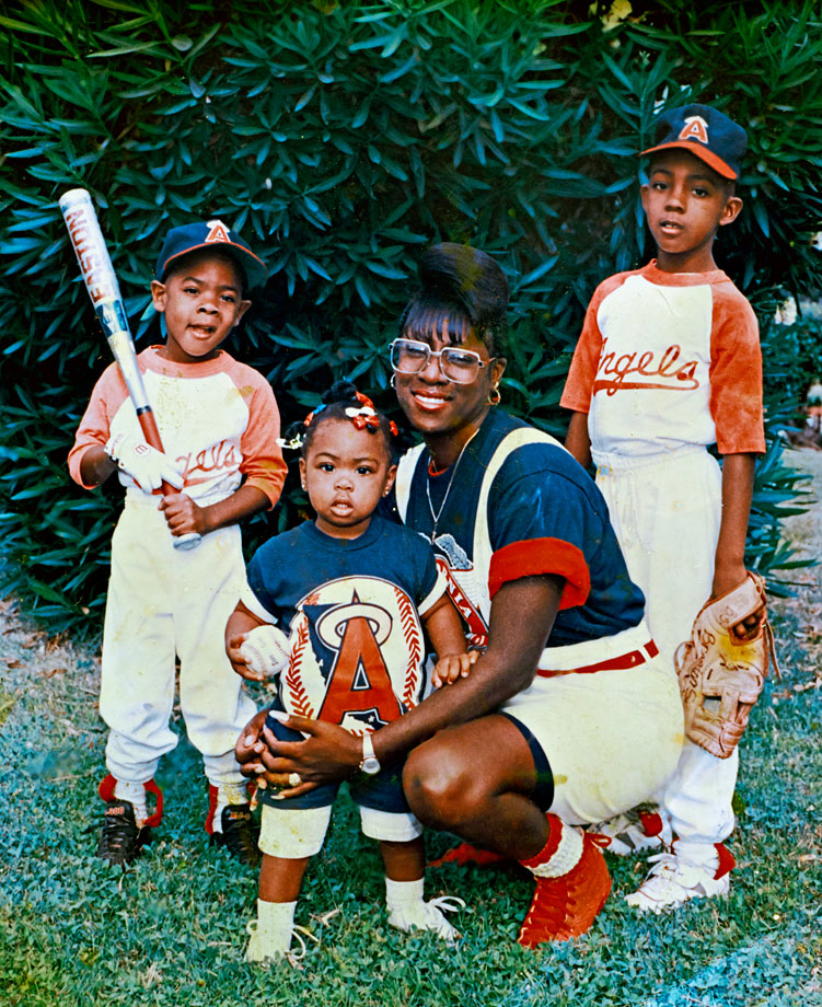 It took extra encouragement from Sherman's mom Beverly and brother Branton (right) to nudge Richard (left) from timid youth to NFL All-Pro.
