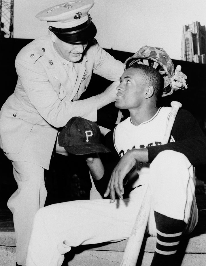 In the winter before the 1959 season, Clemente enlisted in the Marine Corps Reserve and served his six-month active duty commitment at bases in South Carolina, North Carolina and Washington, D.C. The 15-time All-Star and two-time World Series champion was inducted into the Hall of Fame in 1973.