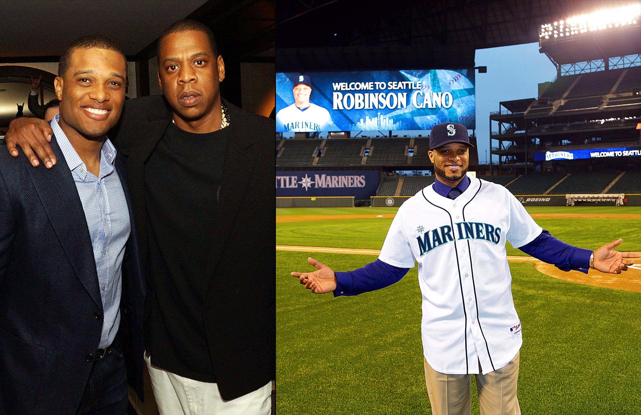 Jay-Z's Roc Nation announced itself to the world in early April 2013 when it signed then-Yankees second baseman and five-time All-Star Robinson Cano away from Scott Boras. Cano, who had spent nine years in the Bronx, signed a 10-year, $240 million contract with the Seattle Mariners.