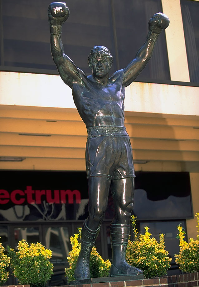 outside of the Spectrum arena in Philadelphia (1996)