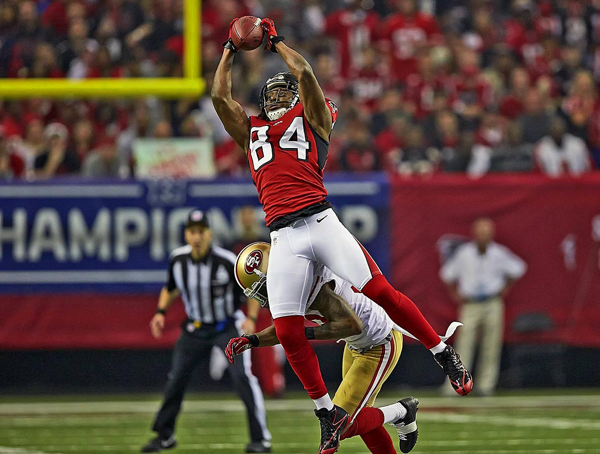 The Falcons released the franchise's all-time leading receiver with two years left on his contract after three consecutive years of diminishing production. The four-time Pro Bowler had 10,863 receiving yards and 63 touchdowns in his 11 seasons in Atlanta.
