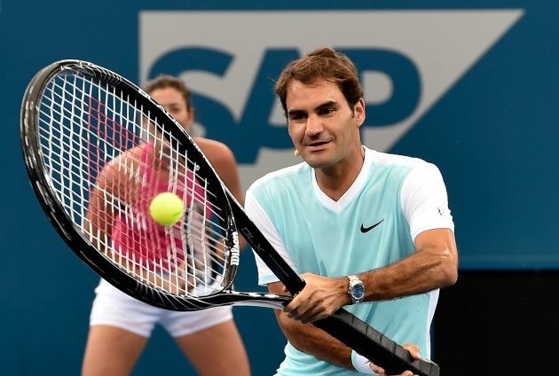 Roger Federer met SpongeBob, Dora, TNMT before Australian ...