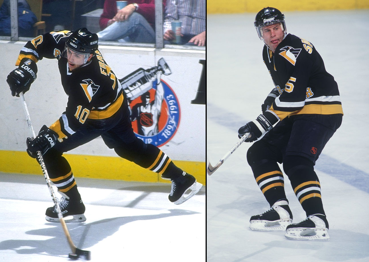 Pittsburgh's run of two successive Cups began after Francis arrived from Hartford on March 4, 1991. One of the best two-way forwards, he scored 17 points in the playoffs and became a Pens' mainstay for seven seasons. Feared blueliner Samuelsson, acquired with Francis, added bruising physicality.