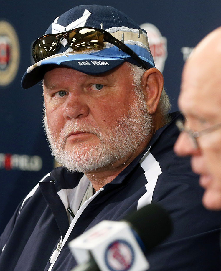 On the heels of their fourth straight season with at least 90 losses, the Twins dismissed manager Ron Gardenhire and his entire coaching staff on Sept. 29. While the team made six postseason appearances during Gardenhire's 13-year tenure, they hadn't done so since 2010, as Minnesota finished 2014 in the AL Central cellar for the third time in the last four years.