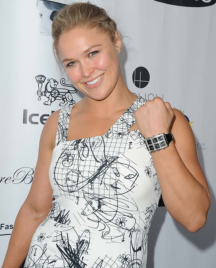 Ronda Rousey hosts #TheLinkParty at the IceLink Boutique West Hollywood benefiting The Special Needs Network.