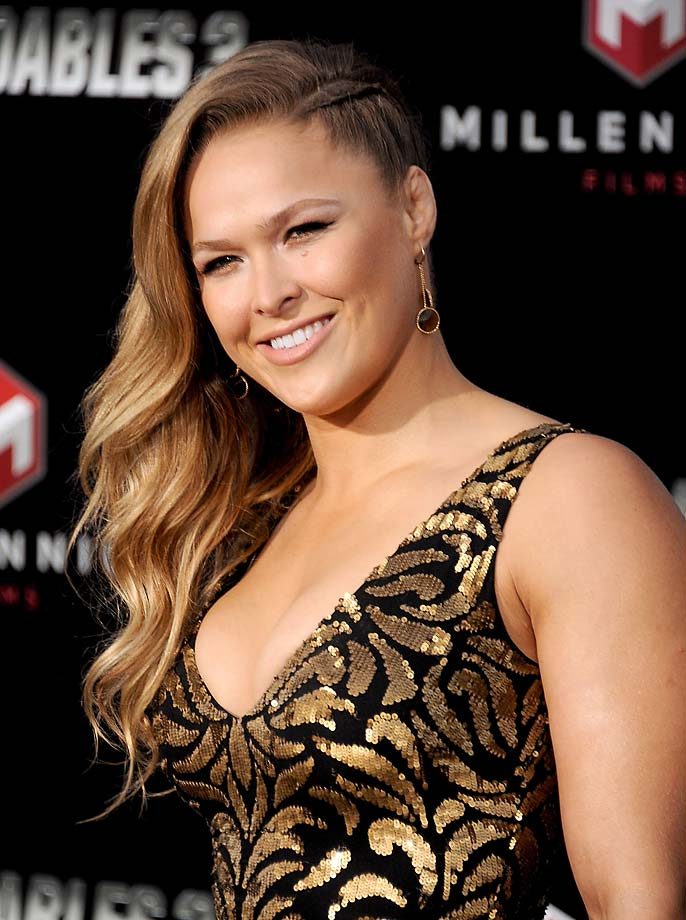"Ronda Rousey arrives at the Los Angeles premiere of ""The Expendables 3"" in Hollywood."