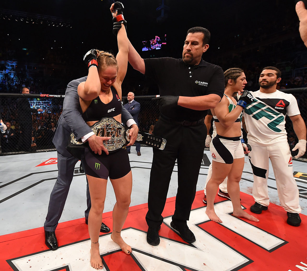 Ronda Rousey after her 34-second victory over Bethe Correia.