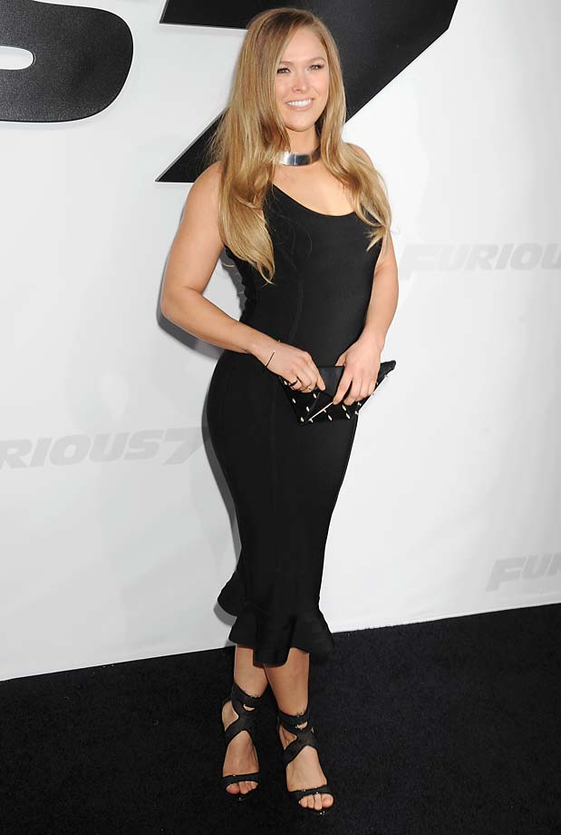 Rousey arrives at the 'Furious 7' Los Angeles Premiere at TCL Chinese Theatre IMAX in Hollywood.