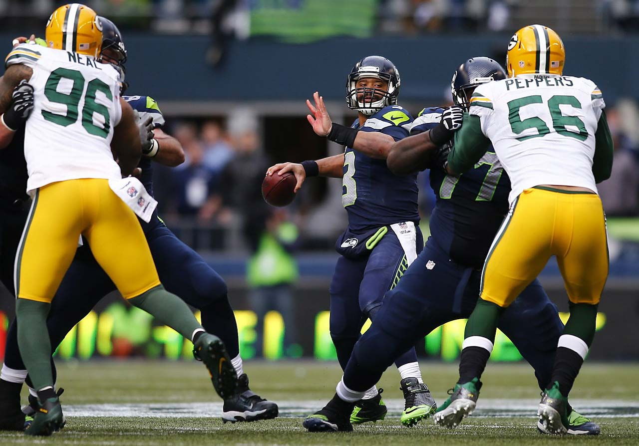 Russell Wilson was intercepted four times but made the big plays down the stretch when needed.