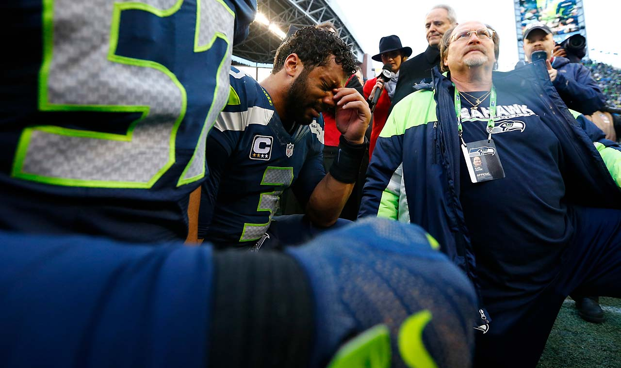 Russell Wilson was overcome with emotion after the amazing comeback victory.