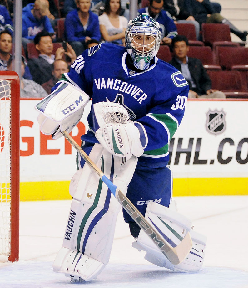 The Canucks often bizarre goalie carousel stopped spinning this summer with the arrival of Miller, who has his share of questions to answer. Often seen as an elite, if continually besieged, goalkeeper during his years with Buffalo, he seemed to get his big chance to contend for the Cup when he was traded to St. Louis before last season's deadline. Alas, his stint with the Blues was disappointing and he now must get his game back with a team in transition that must deal with the high expectations of its impassioned fans and media.