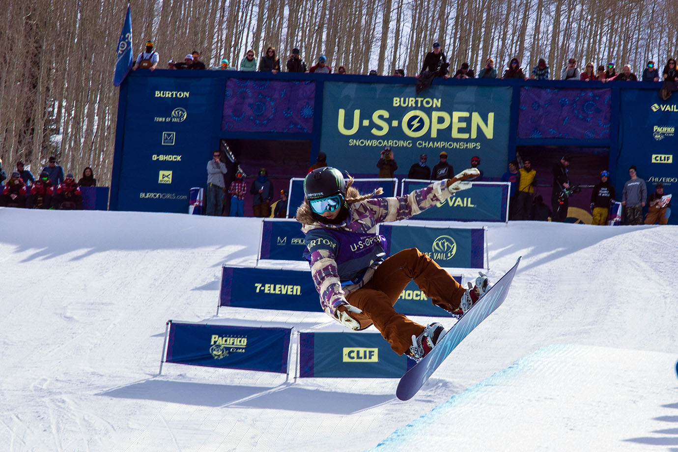 ...That is 15-year-old Chloe Kim, who has taken her riding to the next level this season. Since the end of January, Kim has won superpipe events at two X Games (Aspen, Oslo), a Grand Prix event (Mammoth) and now the U.S. Open. She won at the last two mentioned stops with back-to-back 1080s, which only she has ever done in competition.