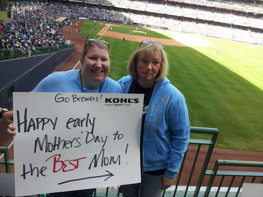 @SInow My mom and I at a Brewers game. #KeepGoodGoing
