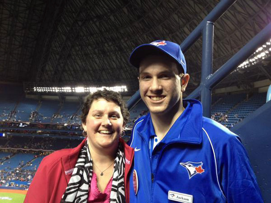 Me with my son working as Jays game staff, 20 yrs after my last season as Jays game staff. @SInow #KeepGoodGoing