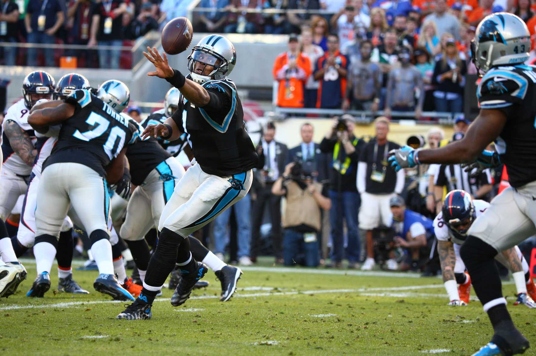 Cam Newton and the Panthers ground game had just over 100 yards rushing.