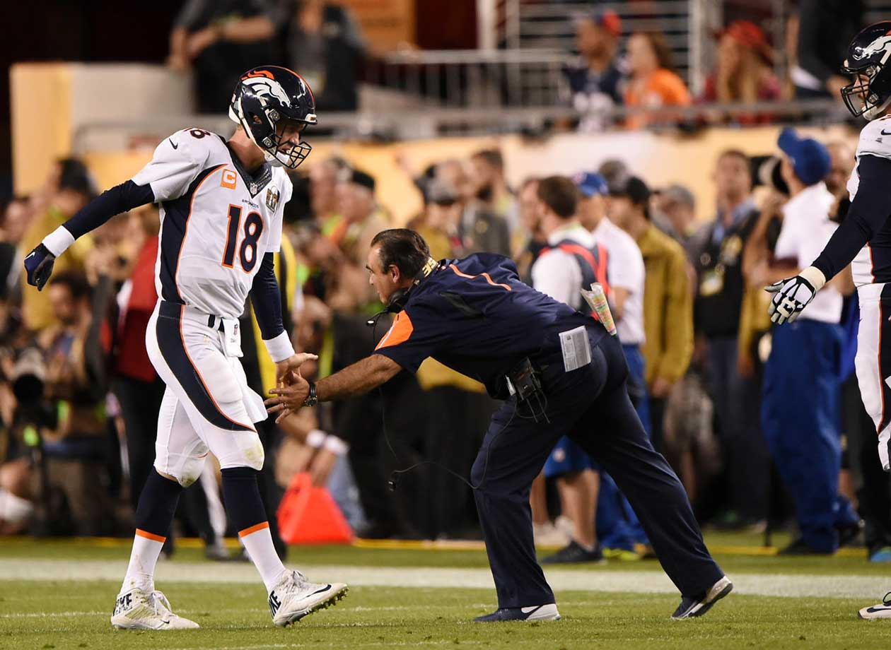 Unlike the 43-8 loss to Seattle in Super Bowl 48, Peyton Manning walked off a winner this time.