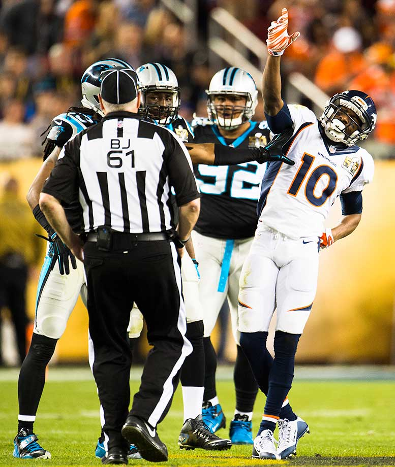 Emmanuel Sanders led Denver in receiving with six catches for 83 yards.