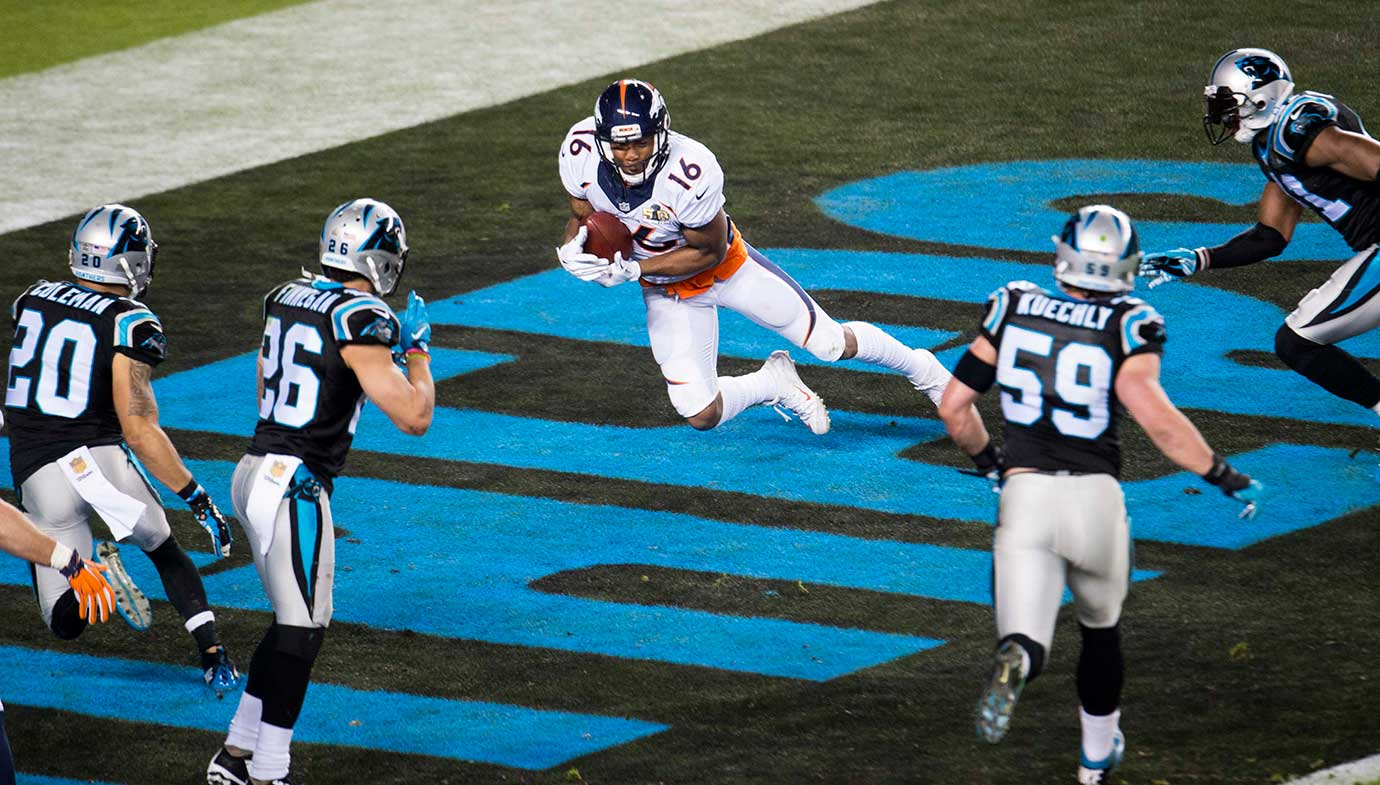 Bennie Fowler may have caught Peyton's Manning last pass, this two-point conversion.