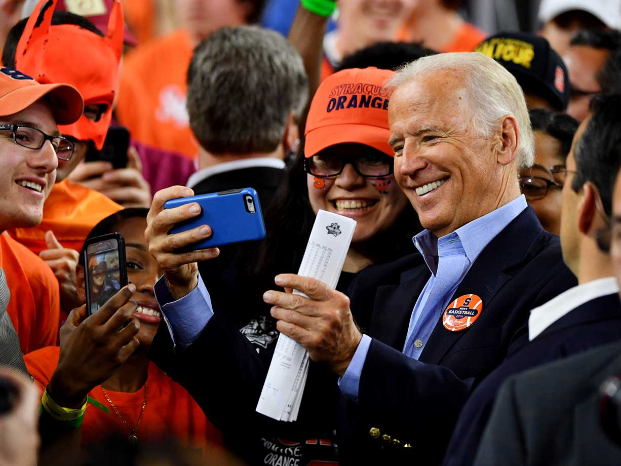Vice president Joe Biden was among those on hand to root for Syracuse.
