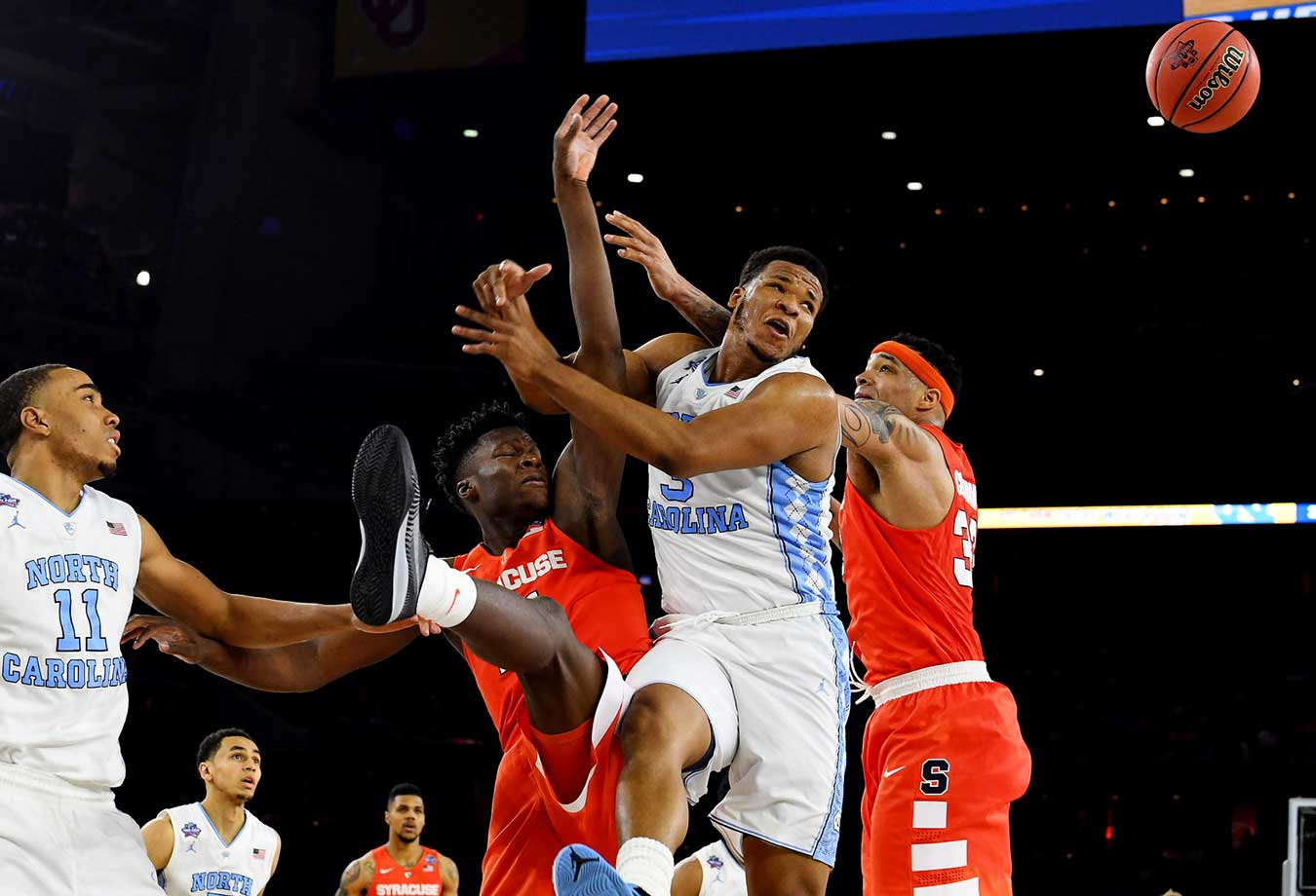 Here are some of the images that caught our eye on a day when North Carolina and Villanova advanced to Monday's national championship basketball game. Kennedy Meeks (3) and the Tar Heels won by double digits for the fifth time in this tournament.