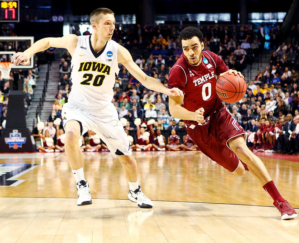 Obi Enechionyia and the Temple Owls suffered a two-point loss to Iowa in overtime.
