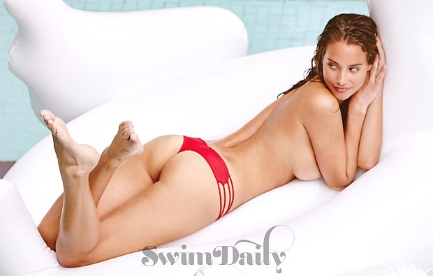 Summer of Swim featuring Hannah Davis. Suit by Bettinis.