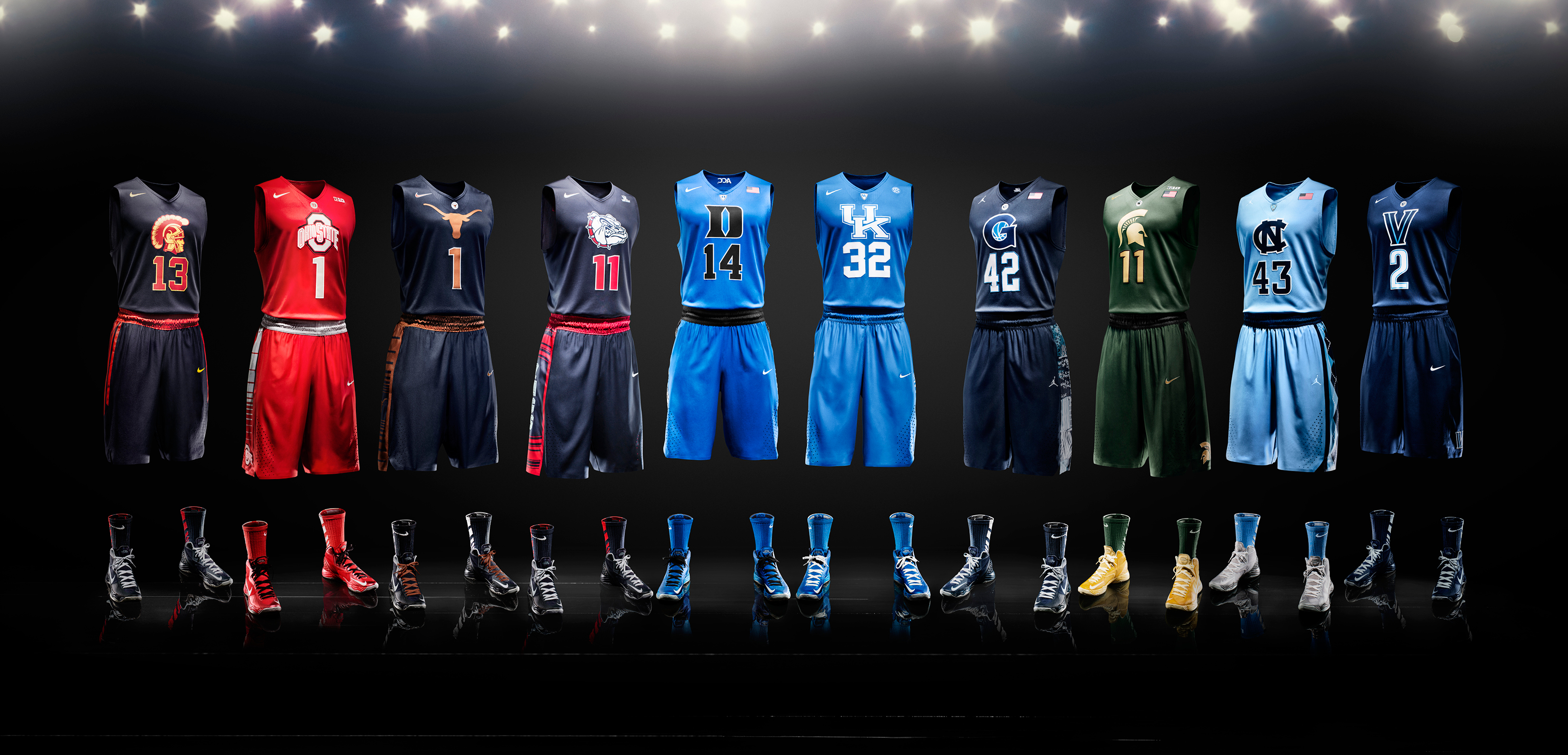 super popular 47f8f fb13c The evolution of Nike's college basketball uniforms | SI.com