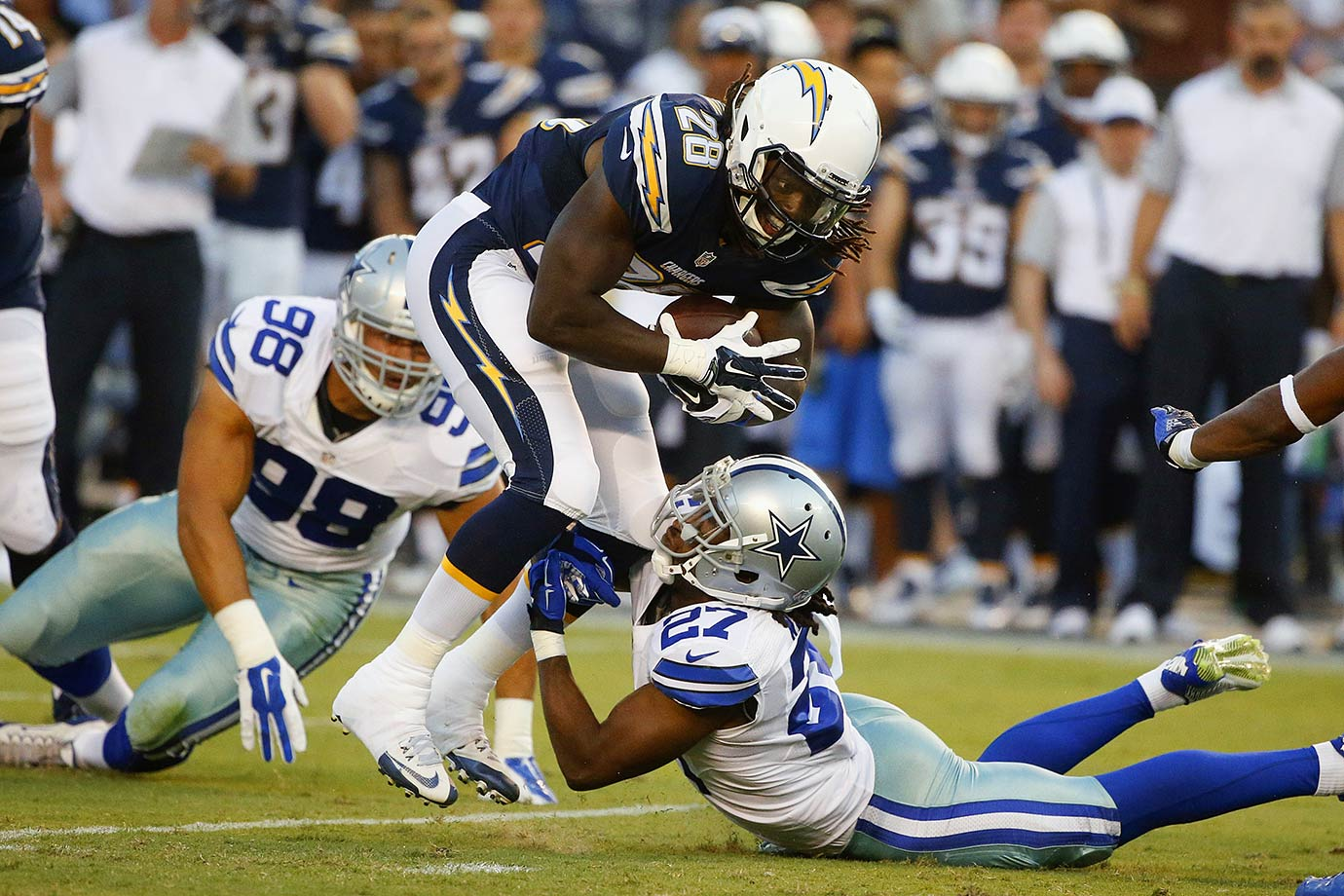San Diego is ready for Melvin Gordon III to recharge this rushing offense now that Ryan Mathews has moved on to Philadelphia. The defense and the road-grading running back from Wisconsin should provide solid production, but the passing game needs some help, especially with Antonio Gates suspended for four games. That's asking an awful lot from MGIII.