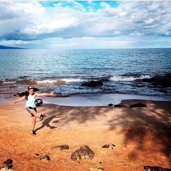 @sportsillustrated is asking which of our sports accomplishments make us proud. #jugglingforjude is proud of juggling her soccer ball to raise money for kids with cancer @stjude. $70k and counting, thanks to some very generous people. Here she is at age 9, juggling in Maui to kick off the Juggling for Jude fundraiser back in the summer of 2014. Proud of the legit personal best of 1,085 consecutive juggles (alternating left/right and feet only)?! Yes. But that pales in comparison to the pride in making a difference for kids fighting cancer. #keepgoodgoing #wontstoptillnokidshavecancer #shebelieves #likeagirl #kickcancer #givewhatyoucan #choosetomatter #soccer #soccerjuggling #fundraiser