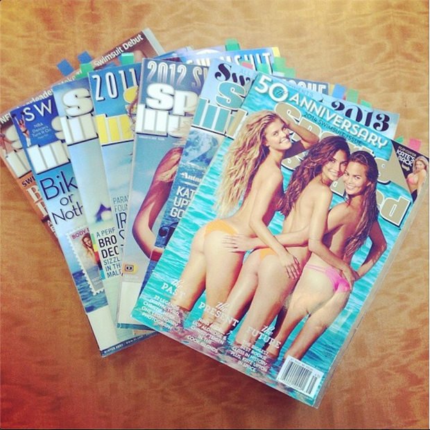 The bibles of the past seven years of my life! @si_swimsuit #nyc #aroundtheworld #reflecting –@iamjessicagomes